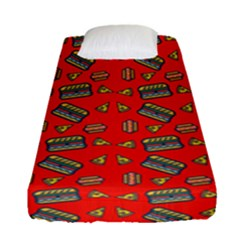 Fast Food Red Fitted Sheet (single Size) by snowwhitegirl