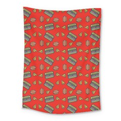 Fast Food Red Medium Tapestry