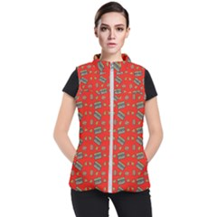Fast Food Red Women s Puffer Vest