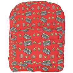 Fast Food Red Full Print Backpack