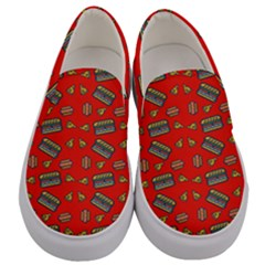 Fast Food Red Men s Canvas Slip Ons