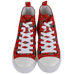 Fast Food Red Women s Mid Top Canvas Sneakers