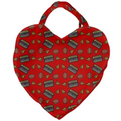 Fast Food Red Giant Heart Shaped Tote by snowwhitegirl