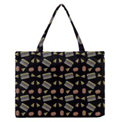 Fast Food Black Zipper Medium Tote Bag by snowwhitegirl