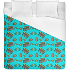 Fast Food Blue Duvet Cover (king Size) by snowwhitegirl