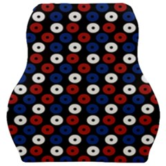 Eye Dots Red Blue Car Seat Velour Cushion  by snowwhitegirl