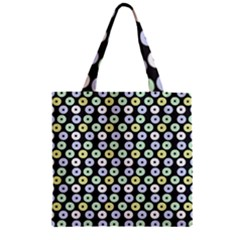 Eye Dots Grey Pastel Zipper Grocery Tote Bag by snowwhitegirl
