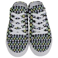 Eye Dots Grey Pastel Half Slippers by snowwhitegirl