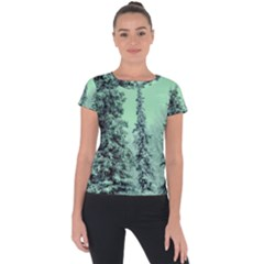 Winter Trees Short Sleeve Sports Top