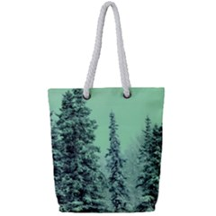Winter Trees Full Print Rope Handle Tote (small) by snowwhitegirl