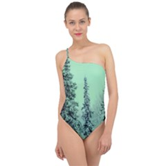 Winter Trees Classic One Shoulder Swimsuit
