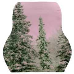 Winter Trees Pink Car Seat Back Cushion  by snowwhitegirl