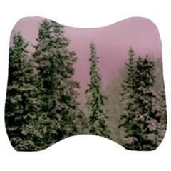 Winter Trees Pink Velour Head Support Cushion by snowwhitegirl