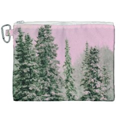 Winter Trees Pink Canvas Cosmetic Bag (xxl) by snowwhitegirl