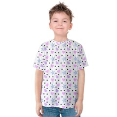 Hearts And Star Dot White Kids  Cotton Tee by snowwhitegirl