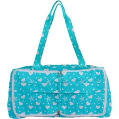 Hearts And Star Dot Blue Multi Function Bag