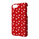 Hearts And Star Dot Red Apple iPhone 7 Hardshell Case View2
