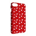 Hearts And Star Dot Red Apple iPhone 7 Hardshell Case View3