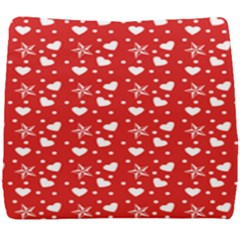 Hearts And Star Dot Red Seat Cushion