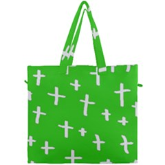 Green White Cross Canvas Travel Bag by snowwhitegirl