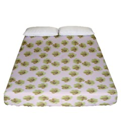 Antique Flowers Pink Fitted Sheet (queen Size) by snowwhitegirl
