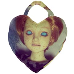 Freckley Boy Giant Heart Shaped Tote by snowwhitegirl