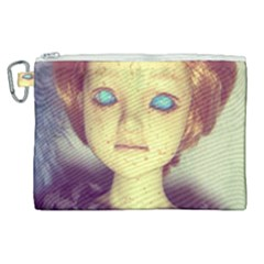 Freckley Boy Canvas Cosmetic Bag (xl) by snowwhitegirl