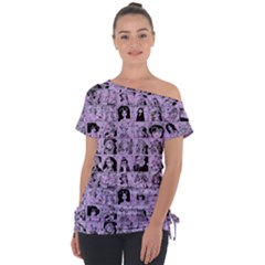 Lilac Yearbok Tie Up Tee