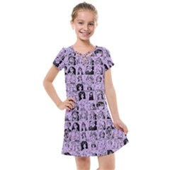 Lilac Yearbok Kids  Cross Web Dress