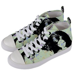 Mint Wall Women s Mid Top Canvas Sneakers by snowwhitegirl
