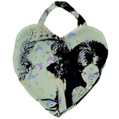 Mint Wall Giant Heart Shaped Tote by snowwhitegirl