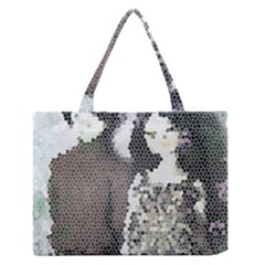Dolls Stained  Glass Zipper Medium Tote Bag by snowwhitegirl