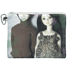 Dolls In The Grass Canvas Cosmetic Bag (xxl) by snowwhitegirl