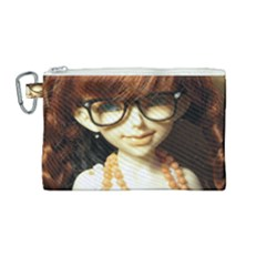 Red Braids Girl Canvas Cosmetic Bag (medium) by snowwhitegirl