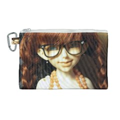 Red Braids Girl Canvas Cosmetic Bag (large) by snowwhitegirl