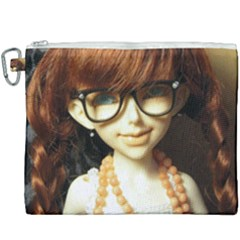 Red Braids Girl Canvas Cosmetic Bag (xxxl) by snowwhitegirl