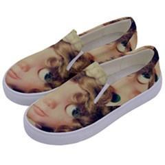 Cute Doll Kids  Canvas Slip Ons by snowwhitegirl