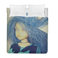 Blue Hair Boy Duvet Cover Double Side (full/ Double Size) by snowwhitegirl