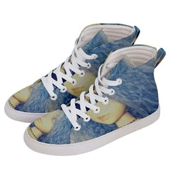 Blue Hair Boy Women s Hi Top Skate Sneakers by snowwhitegirl