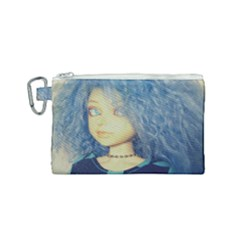 Blue Hair Boy Canvas Cosmetic Bag (small) by snowwhitegirl