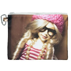 Cover Girl Canvas Cosmetic Bag (xxl) by snowwhitegirl