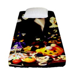 Old Halloween Photo Fitted Sheet (single Size)