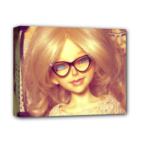 Girls With Glasses Deluxe Canvas 14  X 11  by snowwhitegirl