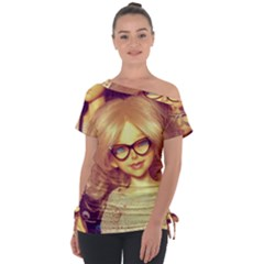 Girls With Glasses Tie Up Tee by snowwhitegirl