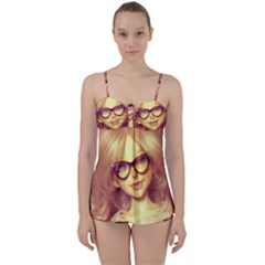 Girls With Glasses Babydoll Tankini Set