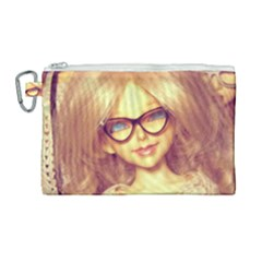 Girls With Glasses Canvas Cosmetic Bag (large) by snowwhitegirl