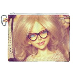 Girls With Glasses Canvas Cosmetic Bag (xxl) by snowwhitegirl