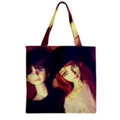 Couple Zipper Grocery Tote Bag by snowwhitegirl