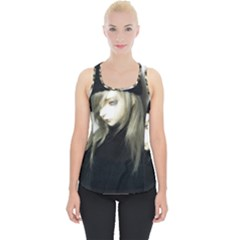 Black Angel Piece Up Tank Top