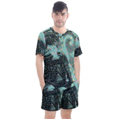 Grainy Angelica Men s Mesh Tee And Shorts Set
